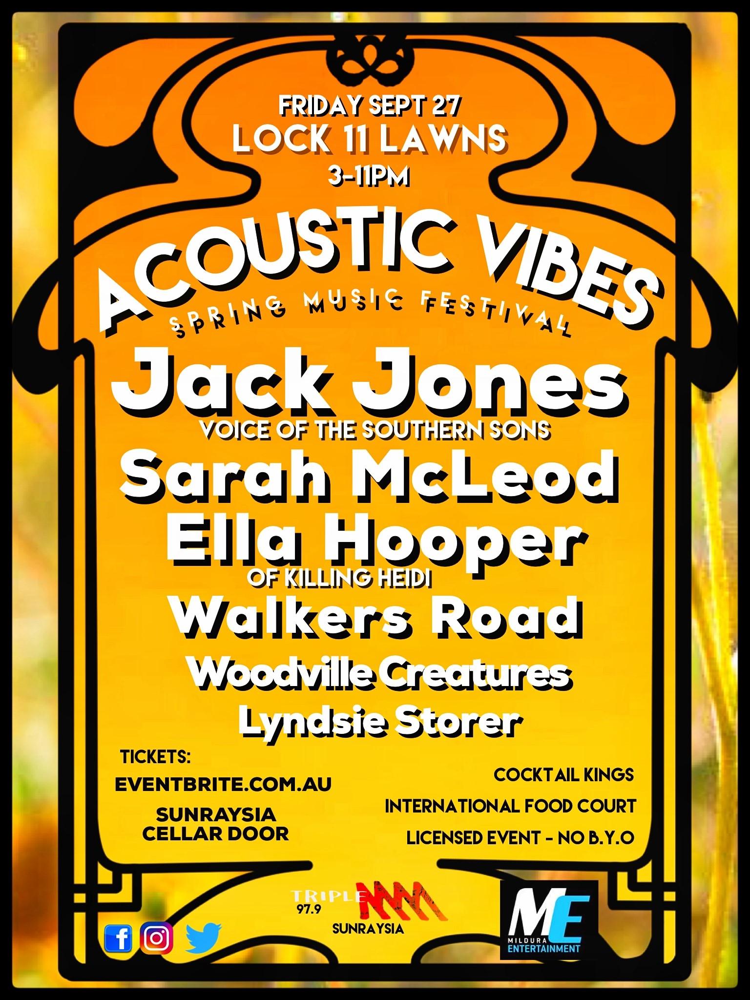 2b18c6d70 Acoustic Vibes | Mildura Entertainment